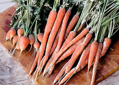 24 Carrot Gem Poster by Elaine Plesser