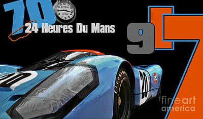 24 Heures Du Mans Poster by Alan Greene