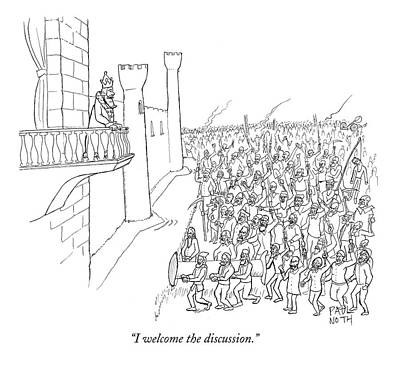I Welcome The Discussion Poster by Paul Noth