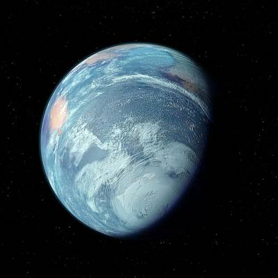 Earth-like Alien Planet Poster