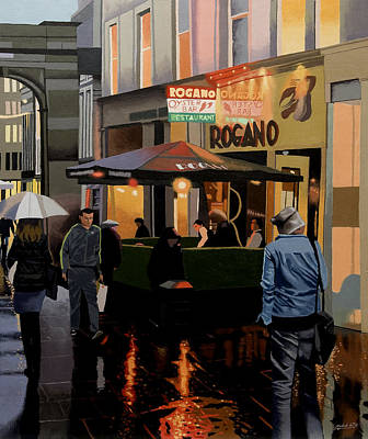 The Merchant City Poster by Malcolm Warrilow
