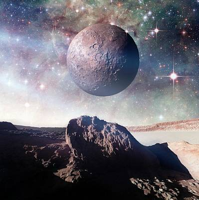 Alien Planet Poster by Detlev Van Ravenswaay