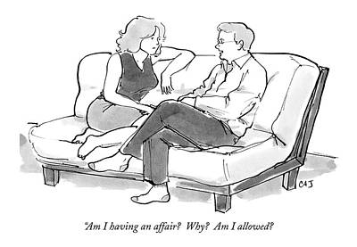 Am I Having An Affair?  Why?  Am I Allowed? Poster by Carolita Johnson