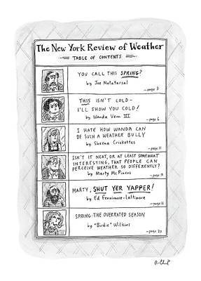 New Yorker April 11th, 2005 Poster
