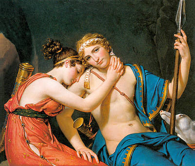 The Fawewell Of Telemachus And Eucharis Poster by Jacques Louis David