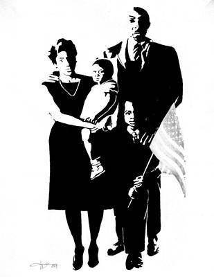 2k Black American Family Poster