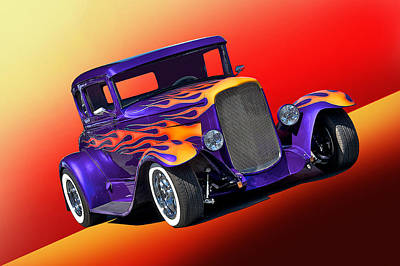 1930 Ford Model A Coupe Poster by Dave Koontz