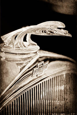 1931 Chevrolet Hood Ornament Poster by Jill Reger