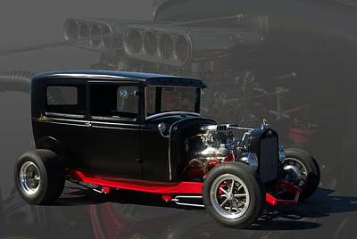 1931 Ford Model A Sedan Hot Rod Poster by Tim McCullough