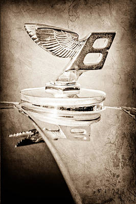 1950 Bentley Mk Vi Sports Saloon Hood Ornament Poster by Jill Reger
