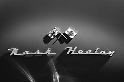 1953 Nash-healey Roadster Emblem Poster by Jill Reger
