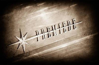 1956 Lincoln Premiere Emblem Poster by Jill Reger
