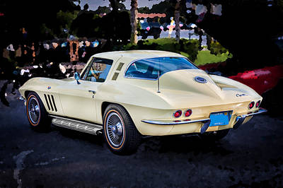 1965 Chevrolet Corvette Sting Ray Coupe  Poster by Rich Franco