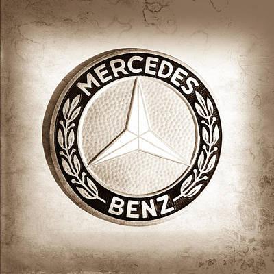 1969 Mercedes-benz 280 Sl Emblem Poster by Jill Reger