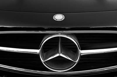 300 Mercedes-benz Sl Roadster Hood Emblem Poster by Jill Reger