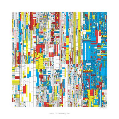 3628 Digits Of Pi Poster by Martin Krzywinski