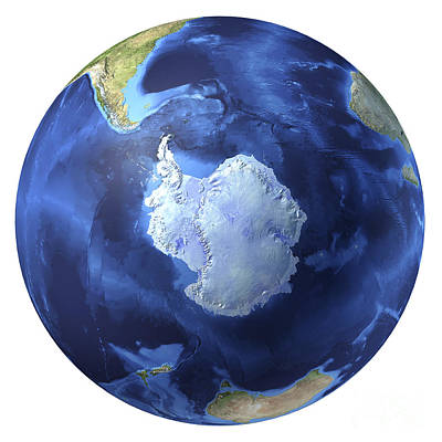 3d Rendering Of Planet Earth, Centered Poster
