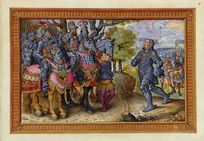 A Victory Of Emperor Charles V Of Spain Poster by British Library