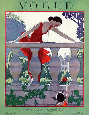 A Vintage Vogue Magazine Cover Of A Woman Poster by Andre E.  Marty
