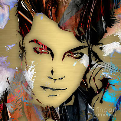 Adam Lambert Collection Poster by Marvin Blaine