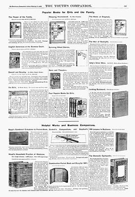 Advertisement Books, 1890 Poster