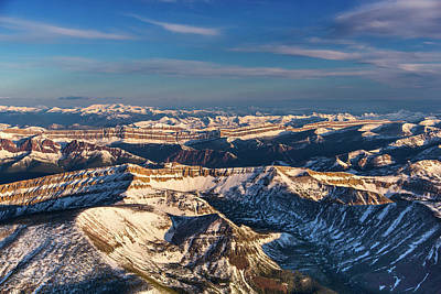 Aerial Of The Rocky Mountains Poster by Chuck Haney
