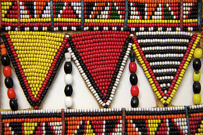 Africa, Kenya Maasai Tribal Beadwork Poster by Kymri Wilt