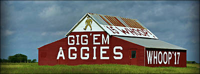 Aggie Barn - Panoramic Poster by Stephen Stookey