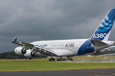 Airbus A380 Poster by Shirley Mitchell