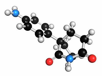Aminoglutethimide Anti-steroid Molecule Poster by Molekuul