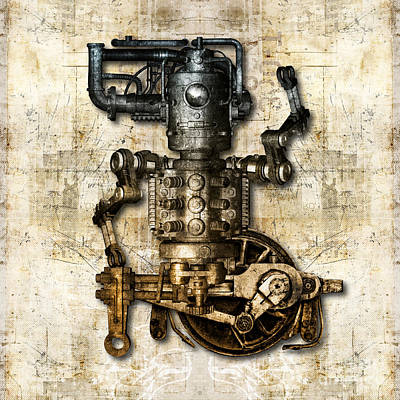 Antique Mechanical Figure Poster by Diuno Ashlee