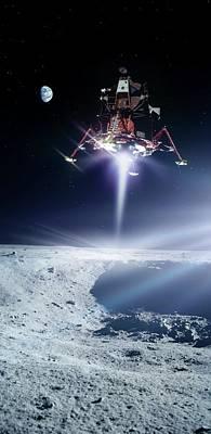 Apollo 11 Moon Landing Poster by Nasa/detlev Van Ravenswaay