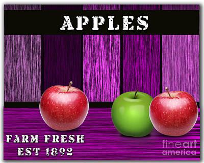 Apple Farm Poster by Marvin Blaine