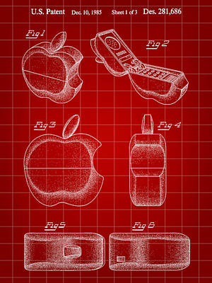 Apple Phone Patent 1985 Poster by Stephen Younts
