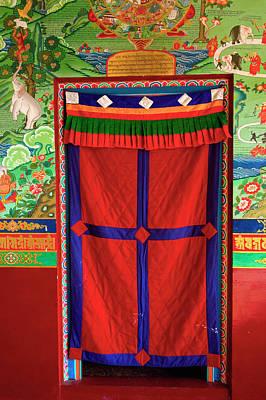 Art In Buddhist Monastery Architecture Poster by Jaina Mishra