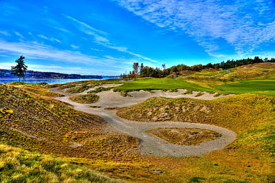 #3 At Chambers Bay Golf Course - Location Of The 2015 U.s. Open Championship Poster by David Patterson