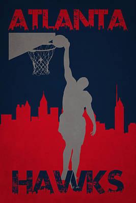 Atlanta Hawks Poster by Joe Hamilton