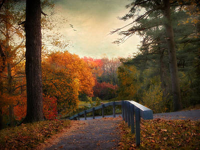 Autumn Ablaze Poster by Jessica Jenney