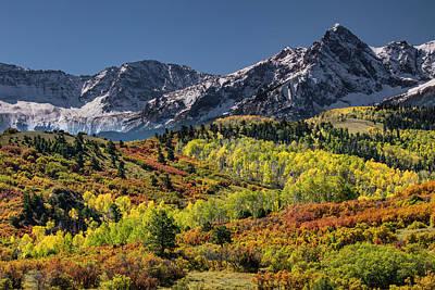 Autumn, Aspen Trees And Sneffels Range Poster