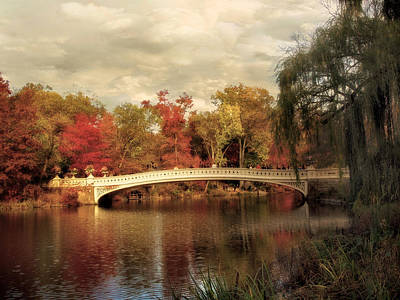 Autumn At Bow Bridge Poster by Jessica Jenney
