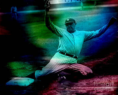 Babe Ruth Poster by Marvin Blaine
