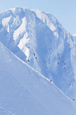 Backcountry Skiing In The Chugach Poster by Scott Dickerson