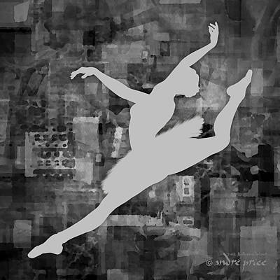 Ballerina Silhouette - Ballet Move 6 Poster by Andre Price