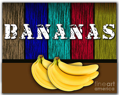 Bananas Poster by Marvin Blaine