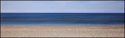 Color Bars Beach Scene Poster