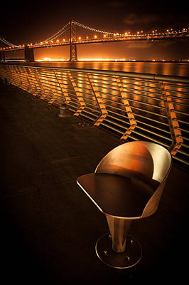 Bay Bridge At Night Poster by Celso Diniz