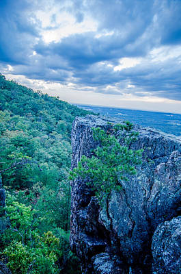 Beautiful Aerial Landscape Views From Crowders Mountain Near Gas Poster