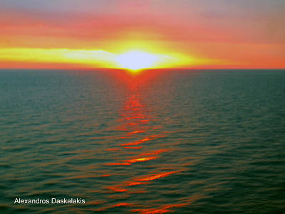 Beautiful Sunset Poster by Alexandros Daskalakis