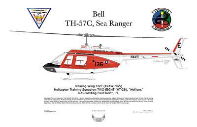 Bell Th-57c Sea Ranger Poster by Arthur Eggers