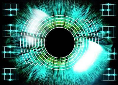 Biometric Eye Scan Poster by Alfred Pasieka